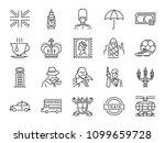 united kingdom icon set.... | Shutterstock .eps vector #1099659728