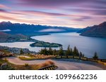 Iconic view of Queenstown from the Skyline Luge at sunrise | Queenstown, NEW ZEALAND