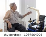 elderly care robot in the... | Shutterstock . vector #1099664006