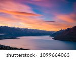 iconic view of queenstown from... | Shutterstock . vector #1099664063