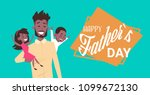 happy father day family holiday ... | Shutterstock .eps vector #1099672130