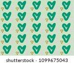 heart paint like graphic... | Shutterstock . vector #1099675043