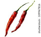 Chili Pepper. Watercolor...