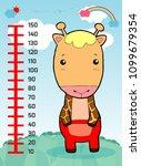 meter wall with giraffe....   Shutterstock .eps vector #1099679354