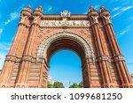 arco del triunfo barcelona... | Shutterstock . vector #1099681250