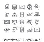 editable simple line stroke... | Shutterstock .eps vector #1099686026
