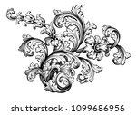 vintage baroque victorian frame ... | Shutterstock .eps vector #1099686956