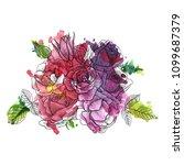 vintage vector floral... | Shutterstock .eps vector #1099687379