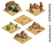 desert landscape isometric tile ... | Shutterstock .eps vector #1099688006