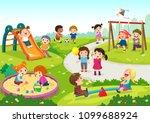 vector illustration of happy... | Shutterstock .eps vector #1099688924