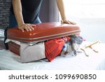 travel and vacation concept ... | Shutterstock . vector #1099690850