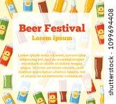 beer festival flat template... | Shutterstock .eps vector #1099694408
