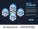 concept of big data processing  ...   Shutterstock .eps vector #1099695386
