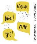 trendy speech bubbles in comics ...   Shutterstock .eps vector #1099699889