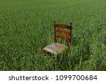 mahogany chair with a golden...   Shutterstock . vector #1099700684