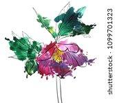 vector drawing flower of...   Shutterstock .eps vector #1099701323