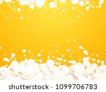 white bubbles on yellow... | Shutterstock .eps vector #1099706783