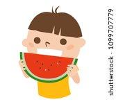 illustration of boys eating...   Shutterstock .eps vector #1099707779