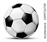 vector soccer ball | Shutterstock .eps vector #1099714739