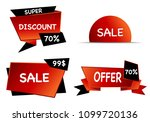 summer sale set isolated vector ... | Shutterstock .eps vector #1099720136