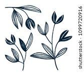 vector silhouette of stylized... | Shutterstock .eps vector #1099720916