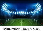 football arena field with... | Shutterstock .eps vector #1099725608