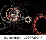 abstract fractal geometric... | Shutterstock . vector #1099729049