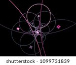 abstract geometric fractal with ... | Shutterstock . vector #1099731839