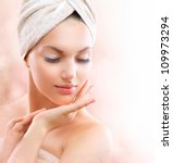 spa girl  beautiful young woman ...   Shutterstock . vector #109973294