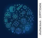 innovation vector round blue... | Shutterstock .eps vector #1099733606