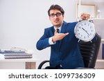 businessman employee in urgency ... | Shutterstock . vector #1099736309