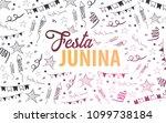 festa junina background with... | Shutterstock .eps vector #1099738184