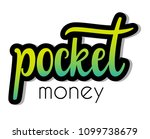 pocket money   hand sketched... | Shutterstock .eps vector #1099738679