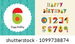 happy birthday card template... | Shutterstock .eps vector #1099738874