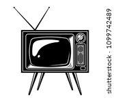 retro tv set concept with... | Shutterstock .eps vector #1099742489