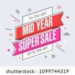 mid year super sale banner... | Shutterstock .eps vector #1099744319