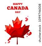 happy canada day vector holiday ... | Shutterstock .eps vector #1099746008