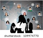 template of a group of business ... | Shutterstock .eps vector #109974770