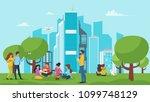 vector cartoon style...   Shutterstock .eps vector #1099748129