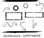 hand drawn scribble symbols... | Shutterstock .eps vector #1099748459