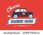 classic race car template... | Shutterstock .eps vector #1099750013
