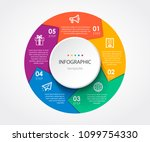 infographic template with... | Shutterstock .eps vector #1099754330