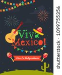 independence day of mexico... | Shutterstock .eps vector #1099755356