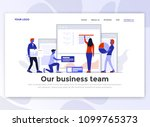 landing page template of our... | Shutterstock .eps vector #1099765373