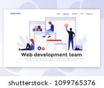 landing page template of web... | Shutterstock .eps vector #1099765376
