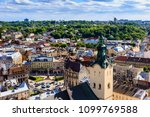 lviv  city view  historical... | Shutterstock . vector #1099769588