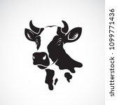 Vector Of Cow Head Design On...