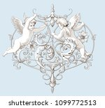 vintage decorative element... | Shutterstock .eps vector #1099772513