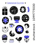 scandinavian doodles elements.... | Shutterstock .eps vector #1099775030