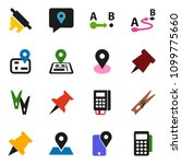 solid vector icon set  ... | Shutterstock .eps vector #1099775660